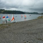 boats on the helford river form porth saxon beach