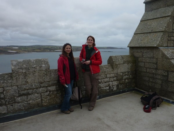 jo tinsley countryfile and alex green swcp team at st michaels mount 600 x 450